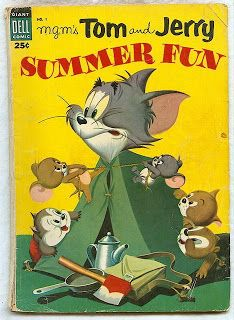 Dell Giant Tom and Jerry Summer Fun Retro Cartoons, Old Cartoons, Classic Cartoons, Vintage Cartoon, Tom Und Jerry Cartoon, Tom And Jerry Funny, Tom Jerry, Cartoon Books, Comic Book Characters