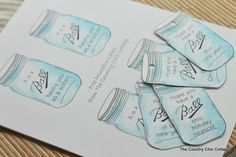 What a creative idea! Mason jar labels for all of your gifts.