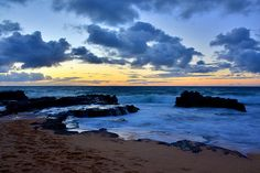 Sandy Beach Sunrise--Oahu, Hawaii