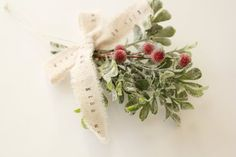 Shabby Chic Christmas Mistletoe . kiss . glitter by TheLonelyHeart