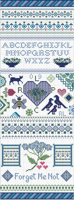 True Blue Sampler from Embroiderbee