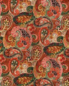 See the World Through Pattern and Colour, Autumn Paisley Pattern via Calsidyrose Motif Paisley, Paisley Art, Motif Floral, Paisley Design, Paisley Fabric, Motifs Textiles, Textile Patterns, Print Patterns, Graphic Patterns