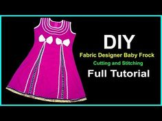 New Looking Baby Frock Design 2019 Cutting and Stitching Full Tutorial for Easy Way Baby Girl Christmas Dresses, Baby Summer Dresses, Baby Girl Dresses, Baby Boy Outfits, Baby Dress Design, Frock Design, Baby Design, Baby Girl Frocks, Frocks For Girls
