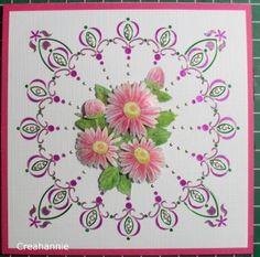 Voorbeeldkaart - Dots met bloemen - Categorie: Hobbydots - Hobbyjournaal uw hobby website