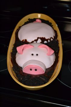 Cute!! Pig in the mud!