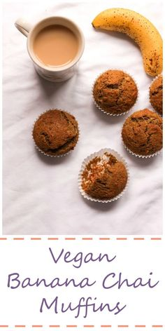 Vegan Banana Chai Muffins are tasty and simple to make