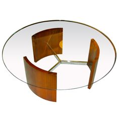 The Radius Coffee/Cocktail by Vladimir Kagan -- So lovely, but not for the Janus Sofa