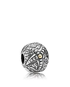 PANDORA Clip - Sterling Silver & 14K Gold Starfish_0
