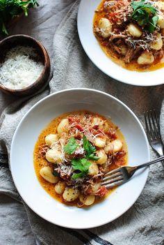 Slow Cooker Pulled Pork Gnocchi