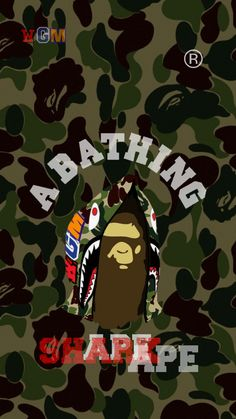 Bape Art, Hypebeast Iphone Wallpaper, Bape Wallpapers, Rick And Morty Poster, Trill Art, Simpsons Art, Supreme Wallpaper, Basketball Art, Cool Backgrounds