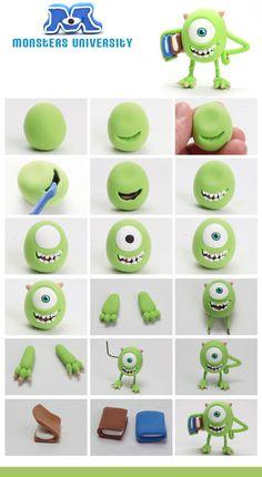 Si te gusta moldear y queres hacer algo realmente original para la fiesta de tus hijos, no te podes perder este paso a paso de los personajes de Monster University! Seguí las imágenes con el paso a...