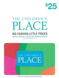 The Children's Place $25 Gift Card - http://www.darrenblogs.com/2016/08/the-childrens-place-25-gift-card/