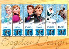 DESCARGAR INSTANT Digital congelado marcadores de fiesta de cumpleaños para imprimir