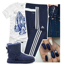 """""""last day of finals!!"""" by aribearie ❤ liked on Polyvore featuring adidas and UGG Australia"""