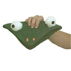 This simple Frog Hand Puppet will delight children as they turn a pot holder into a fun frog puppet. Puppets supply hours of fun after the craft is finished Frog Puppet, Girl Scout Camping, Puppet Crafts, Hand Puppets, Girl Scouts, Pot Holders, Badge, Crafts For Kids, Children