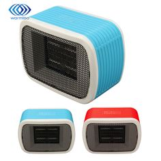 220 V 500 W Mini Espacio de Calentadores Eléctricos de Cerámica PTC Calentador de Ventilador de Escritorio Para El Invierno Cálido 2 Color Azul, rojo