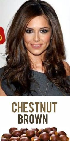 2014 Hair Trend: Chestnut Brown! Add some walnut highights for dimension and you've got one amazing brown hair color!