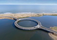 Circular bridge in Uruguay lets drivers slow down and enjoy the view