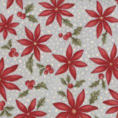 Sentiments Frost Snowy Poinsettias Aqua by 3 Sisters for Moda Fabrics 4085 15 by happyvalleymercantil on Etsy