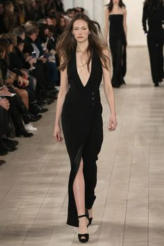 2015 Fall Runway Fashion from Ralph Lauren: Black Silhouettes for Fall from Ralph Lauren