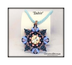 *P SPECIAL PRICE beaded pendant pattern 'Zahir' with by CrownofStones, €5.50