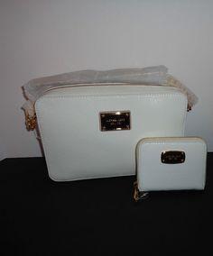 3a2dfbf8ef86 MICHAEL KORS East West Crossbody White Patent Handbag & Wallet NWT # MichaelKors #CrossBodyWallet