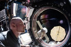 """Expedition 57 Commander Alexander Gerst of ESA (European Space Agency) peers out the International Space Station's """"window to the world"""" Nasa Space Station, Spacex Launch, International Space Station, Space Photos, News Space, Cosmos, Product Launch, World, Instagram"""