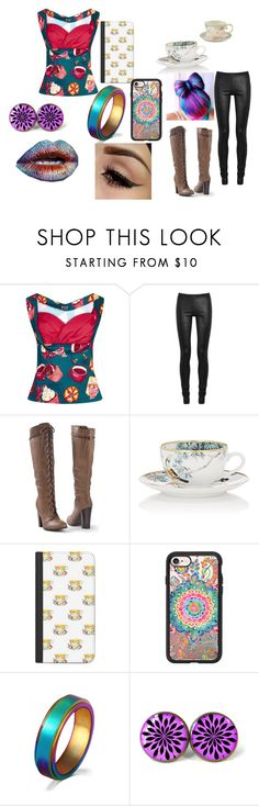 """Madeline Hatter"" by mgonzalex on Polyvore featuring Rick Owens, Venus, Hermès, Casetify, WithChic and madhatter"
