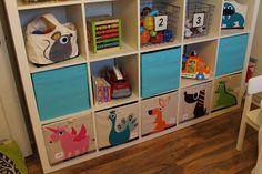 Simcoe Street: Playroom Updates Toy storage baskets Ikea Expedit