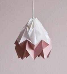 origami lampenschirm altrosa weiß