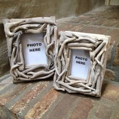 Vergrijsd houten fotolijst driftwood drijfhout