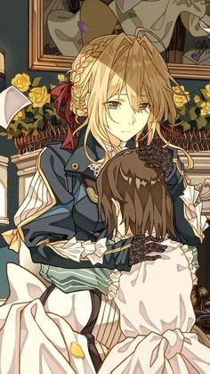 Violet comforts Ann : VioletEvergarden