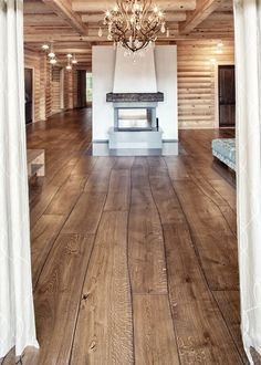 Gorgeous new type of plank floors.  Love this.
