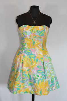 nice LILLY PULITZER PRINT DRESS NEW WITH TAGS