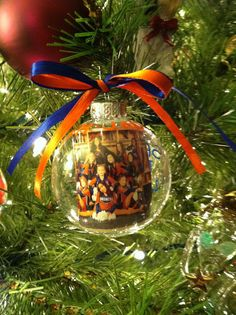 Christmas ornament with a picture.  This is for the 12 girls I coach as their Christmas gift.