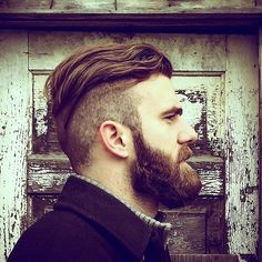beardcollective: —> Jesse Peters An attractive and rather burly young man… beardcollective: —> Jesse Peters An attractive and rather burly young man. One wonders if he is wearing socks. Mens Hairstyles With Beard, Undercut Hairstyles, Hair And Beard Styles, Short Hair Styles, Moustaches, Cool Haircuts, Haircuts For Men, Beard Haircut, Beard Game