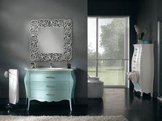 Barokk fürdőszobabútor - www.montegrappamoblili.hu Nightstand, Vanity, Interior Design, Mirror, Stuff To Buy, Furniture, Green Valley, Urban Chic, Home Decor
