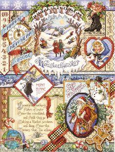 cross stitch seasonal sampler patterns - Google Search