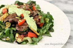 Southwest Salad with Creamy Herb Dressing