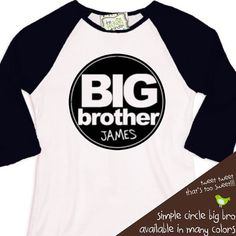 big brother shirt sporty simple and clean circle by zoeysattic, $22.50
