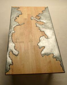 thedesignwalker: Дизайн Уокер: дерево и сталь Таблица