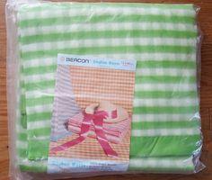 green u0026 white gingham weave twindouble 100 virgin acrylic blanketnew in