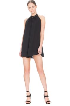 KEEPSAKE HURRICANE PLAYSUIT BLACK - BNKR
