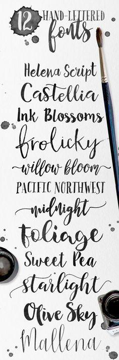 Skyla Design -: 12 hand-lettered fonts for your creative designs