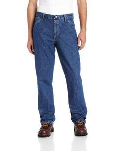 Black Friday Genuine Wrangler Men's Carpenter Fit Jean,Stone Washed,38x30 from Wrangler