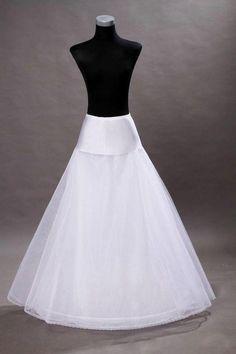 Hot Promotion White Wedding Dress Bridal One Hoop A-Line Petticoat  Crinoline++++ Wedding Skirt 814ac52414b2