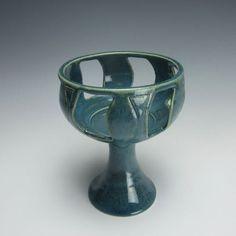 Pierced Table Chalice - UU - Turquoise Windows