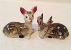 Vintage Brown Deer Stag Doe Salt and Pepper Shakers Japan | eBay