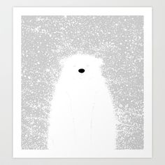 Buy Its A Polar Bear Blinking In A Blizzard by Skylar Hogan as a high quality Art Print. Worldwide shipping available at Society6.com. Just one of…