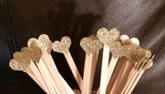 Glitter Drink Stirrers- Event Decor- Wedding- Stir Sticks- Bridal Shower- Engagement Party- Party- Reception-Coffee- Bar- Set of 12